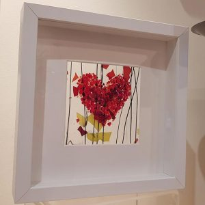 Fused Glass Heart Box Frame