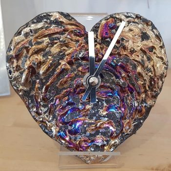 Heart shaped wall clock