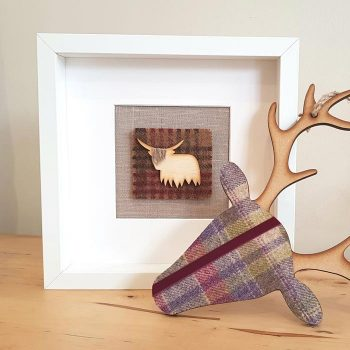 Highland Cow Picture Mixed Tweed