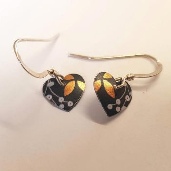 Floral Heart Earrings