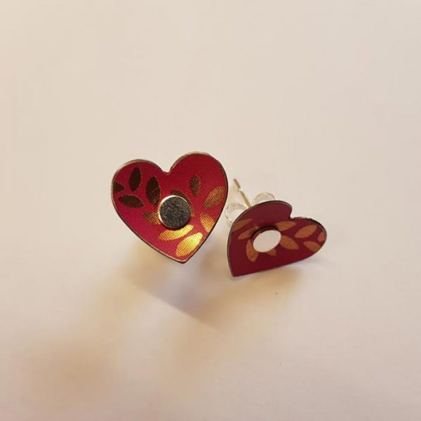 Floral Heart Studs