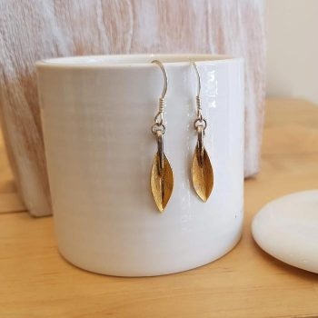 Silver Leaf Design Earrings