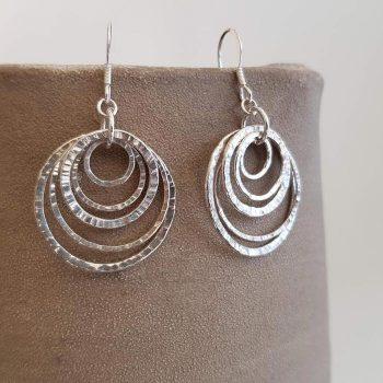 Silver Multi Link Earrings
