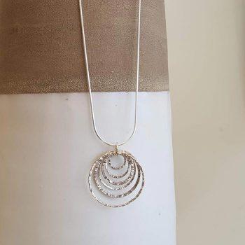 Silver Multi Link Necklace