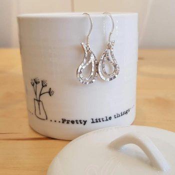 Silver Paisley Design Earrings