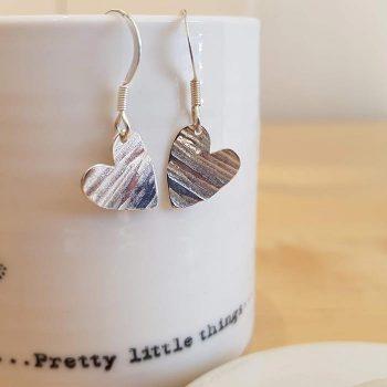 Silver Simple Heart Earrings