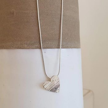 Silver Simple Heart Necklace