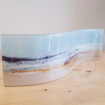 Fused Glass Curved Panel Seascape