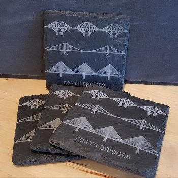 Forth Bridges Slate Coaster Gift Set