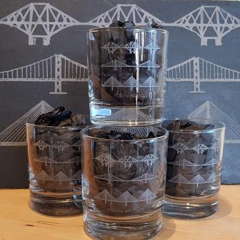 Forth Bridges Whisky Glasses Gift Set