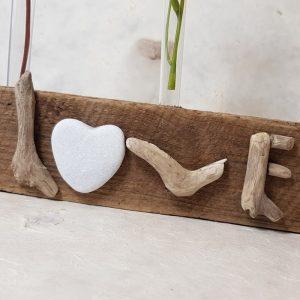 """DRIFTWOOD """" LOVE """" BUD VASE image 2"""
