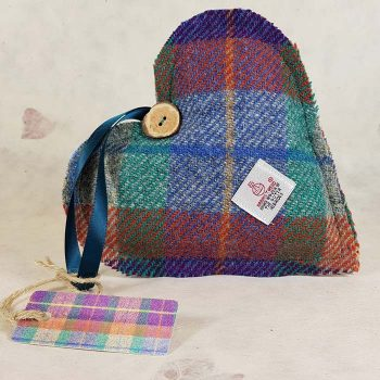 Harris Tweed Lavender Heart by Mrs Tweedy