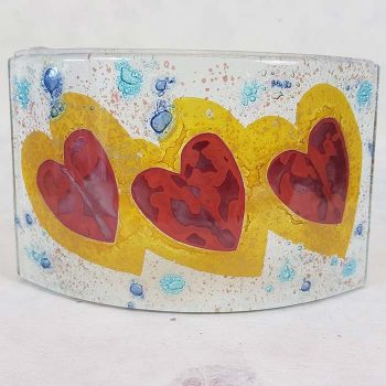 Fused Glass Curved Panel