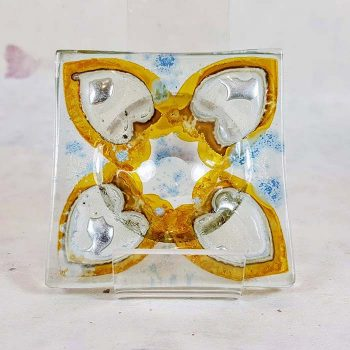 Fused Glass Tea light holder
