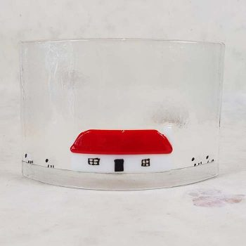 Small Cottage Fused Glass Panel