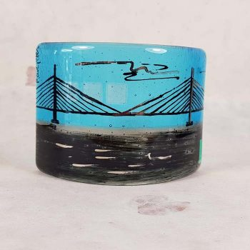 Forth Rail Bridge Fused Glass Panel