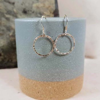 Silver Circular Earrings
