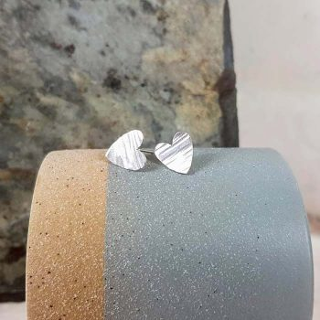 Heart Shaped Silver Studs