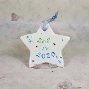 Born In 2020 Ceramic Star