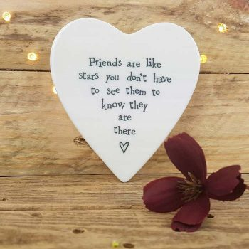 Porcelain Coaster , Friends Are Like Stars