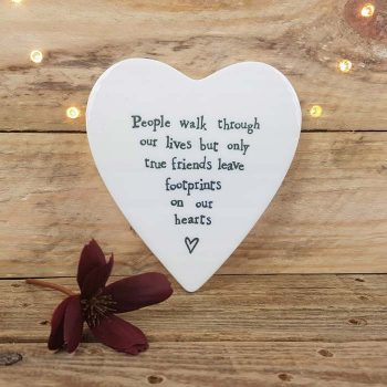 Porcelain Coaster , People Walk Through Our Lives