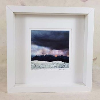 Strawberry Moon over the Cuillin Framed Print