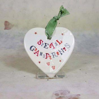 Special Grandparents Ceramic Heart
