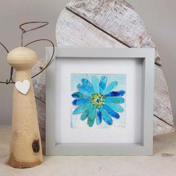 Framed Turquoise Flower