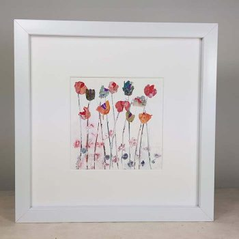 Framed Wild Flower Picture