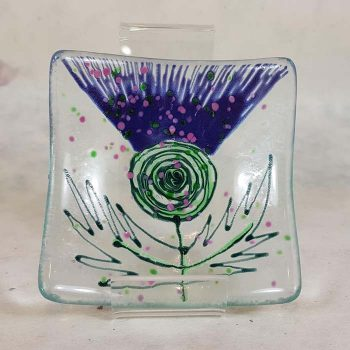 Glass Thistle Dish
