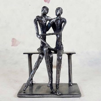 Metal Sculpture, Lovers Sitting