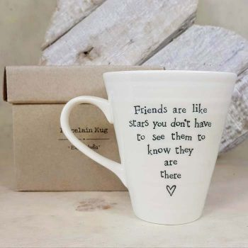 Porcelain Mug , Friends are like Stars