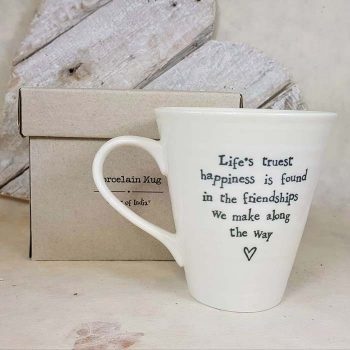 Porcelain Mug, Life's Truest Happiness