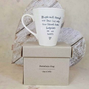 Porcelain Mug, People Walk Through our Lives