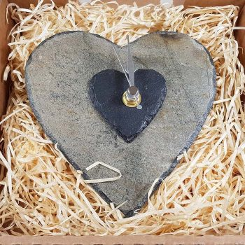Slate Heart Wall Clock