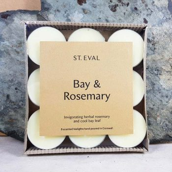 Bay And Rosemary Scented Teal Lights