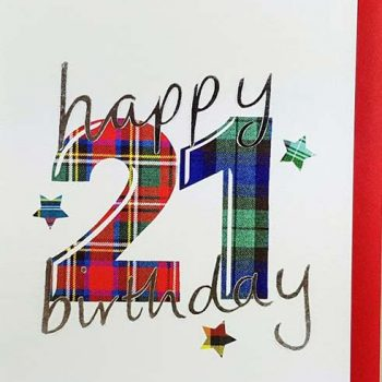 Scottish Birthday Card Special Ages 21