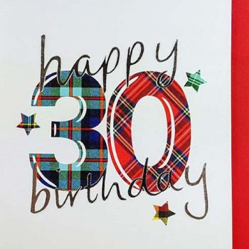 Scottish Birthday Card Special Ages 30