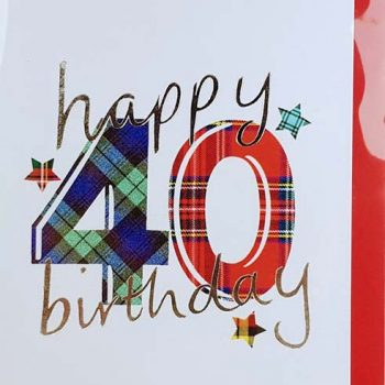 Scottish Birthday Card Special Ages 40