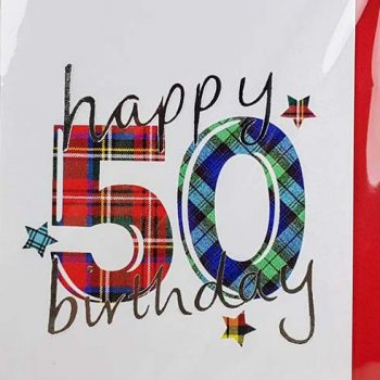 Scottish Birthday Card Special Ages 50