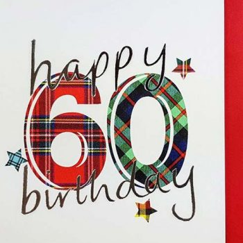 Scottish Birthday Card Special Ages 60