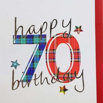 Scottish Birthday Card Special Ages 70