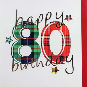 Scottish Birthday Card Special Ages 80