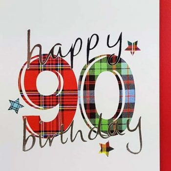 Scottish Birthday Card Special Ages 90