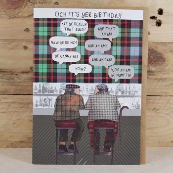 Scottish Birthday Card Auld Men