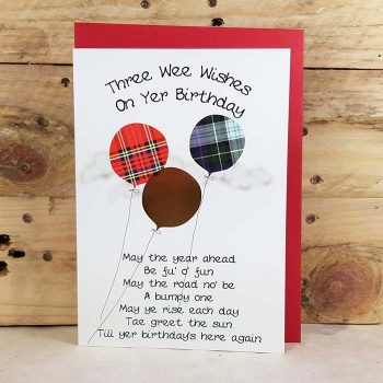 Scottish Birthday Card Balloons