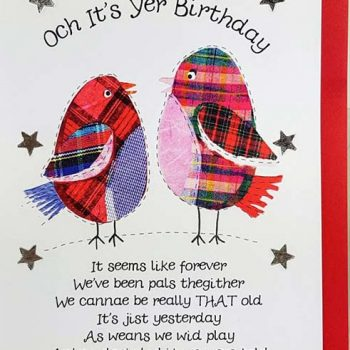 Scottish Birthday Card Birds