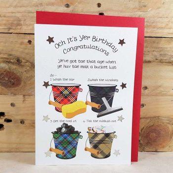 Scottish Birthday Card Bucket List