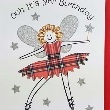 Scottish Birthday Card Fairie