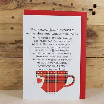 Scottish Card Feelin Troubled